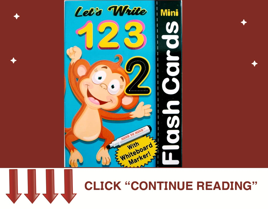 Flash Card Marker Numbers 123
