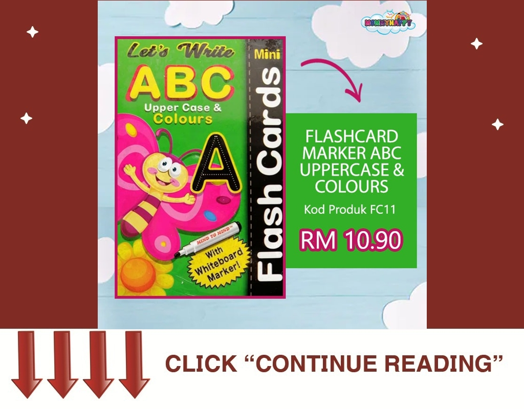 FC32-FLASHCARD MARKER ABC UPPER CASE WITH MARKER