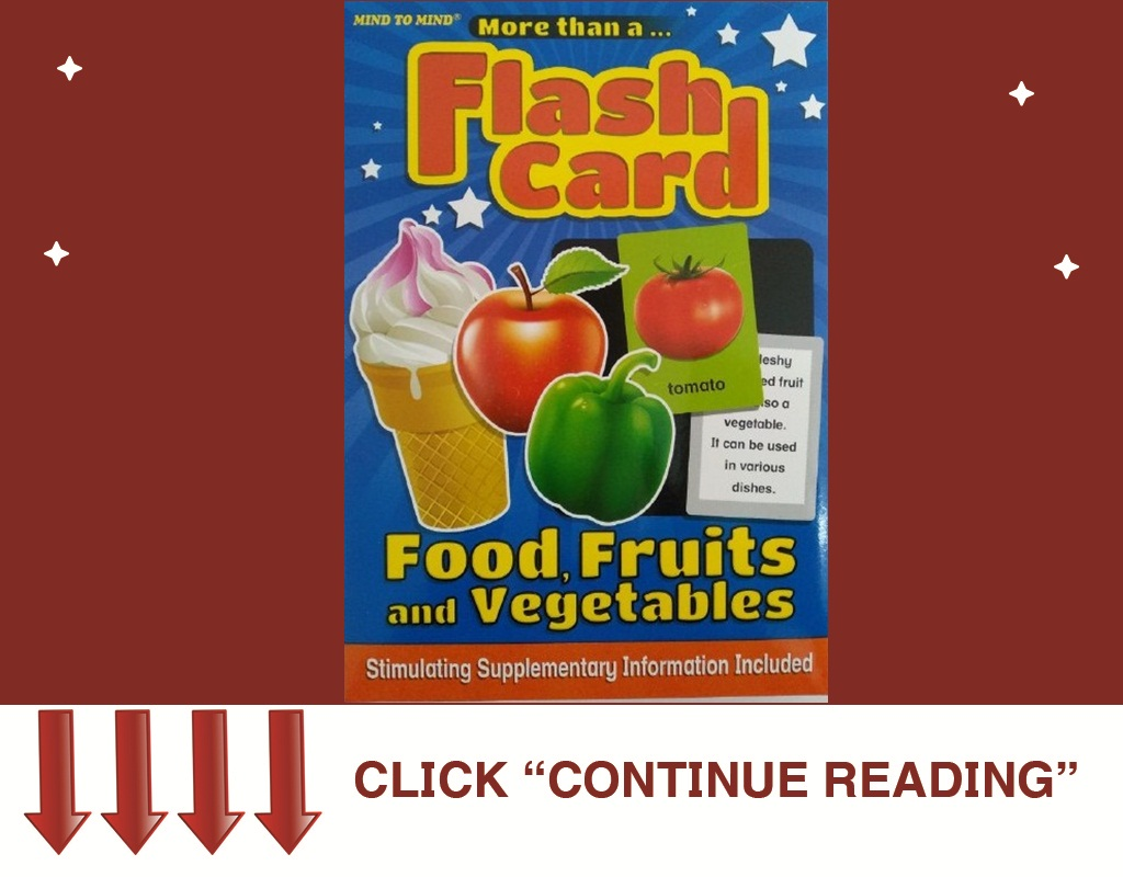 FLASH CARD FOOD, FRUITS and                VEGETABLES