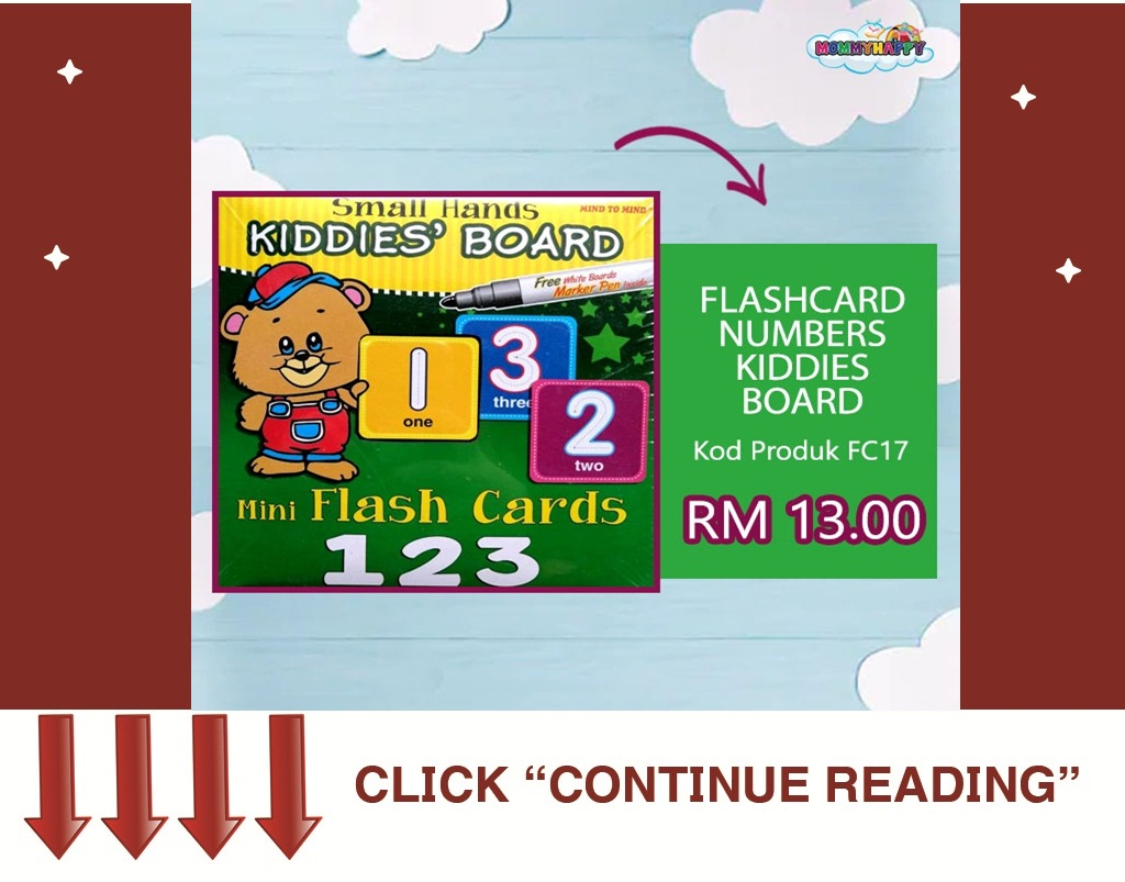 FLASHCARD NUMBERS KIDDIES BOARD