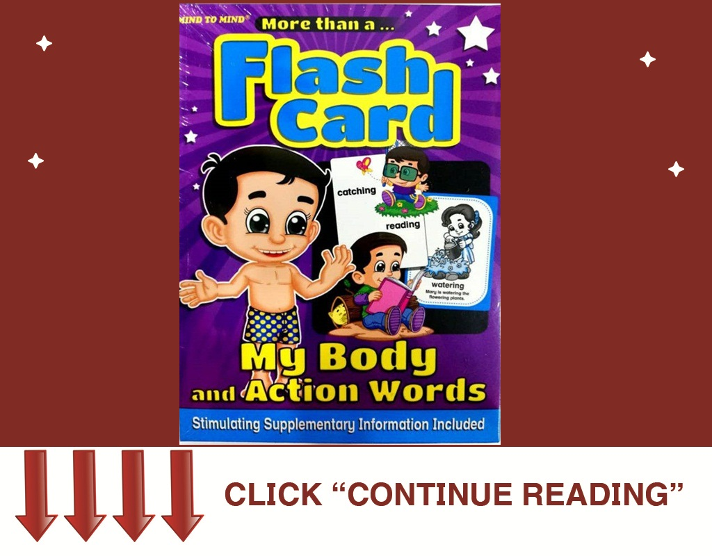 FLASH CARD MY BODY AND ACTION WORDS