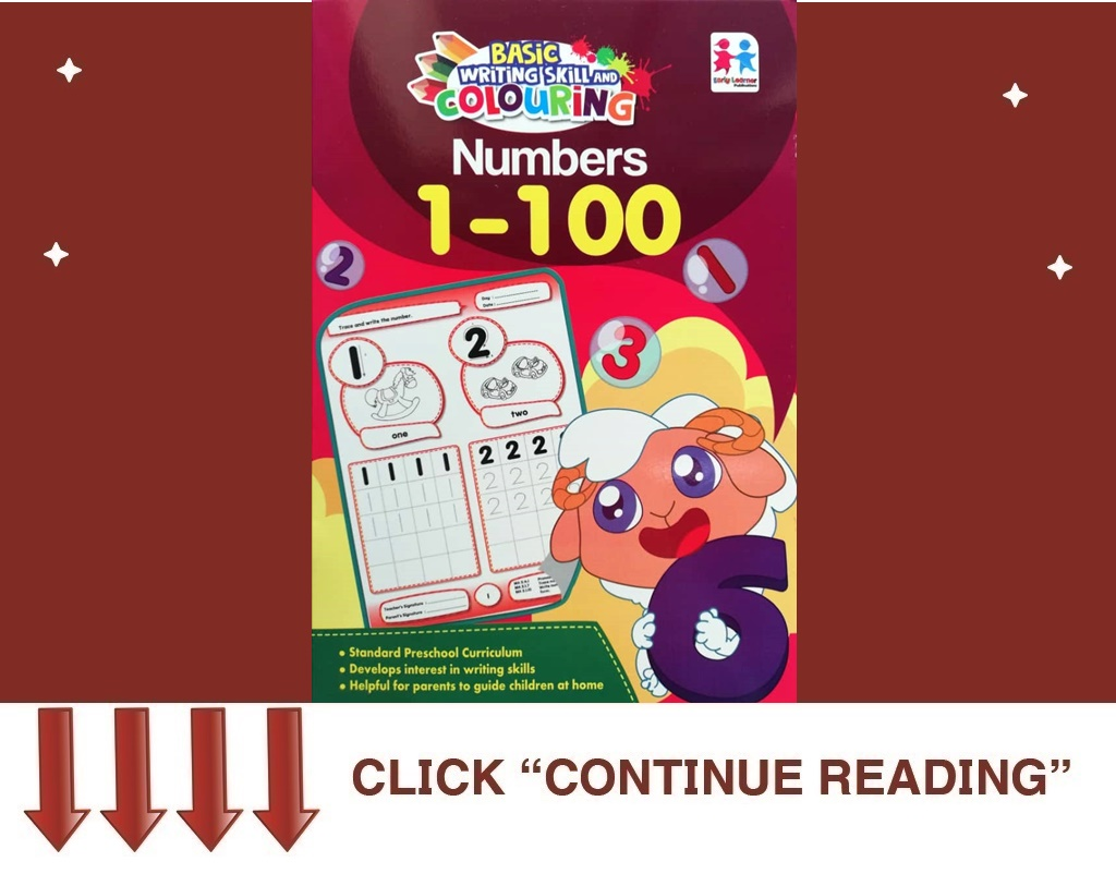 BASIC WRITING SKILL AND COLOURING NUMBERS 1-100