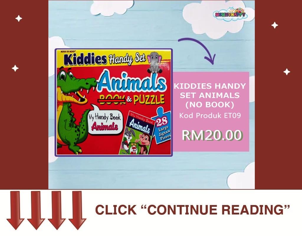 KIDDIES HANDY SET ( NO BOOK) – ANIMALS