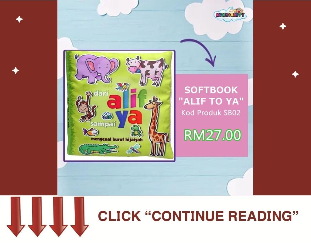 "SB02- SOFTBOOK ""ALIF TO YA"""