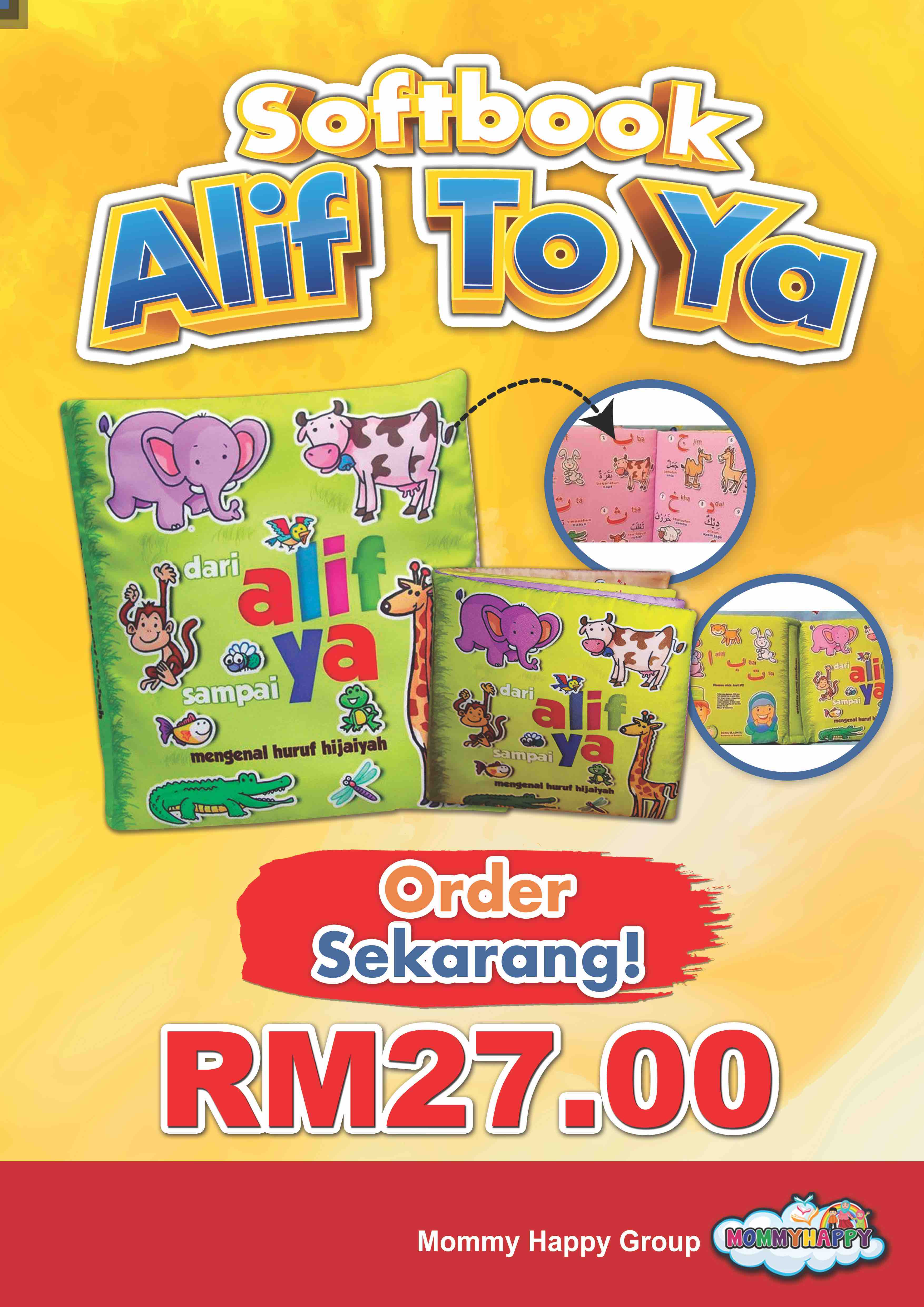 "SB02- SOFTBOOK ""ALIF TO YA"""