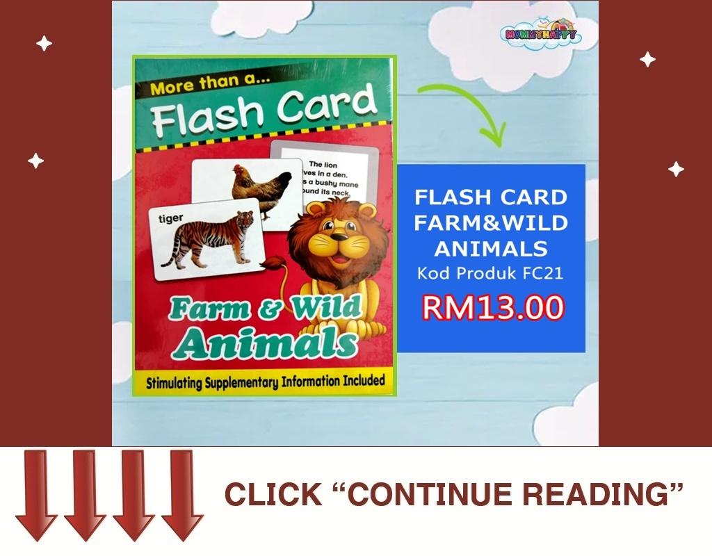 FC21-FLASH CARD FARM & WILD ANIMALS