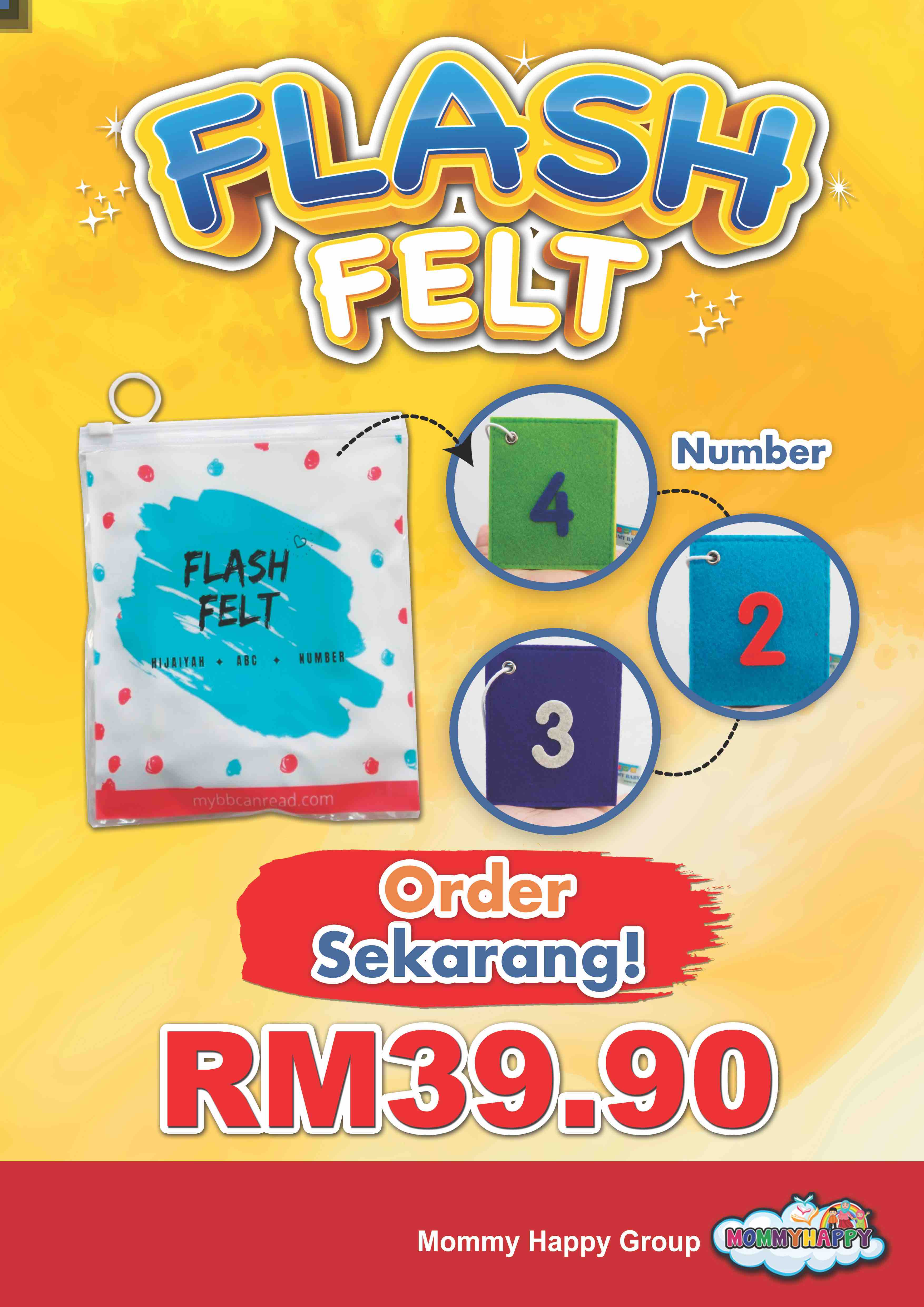 FT05- FLASH FELT NUMBER ENGLISH