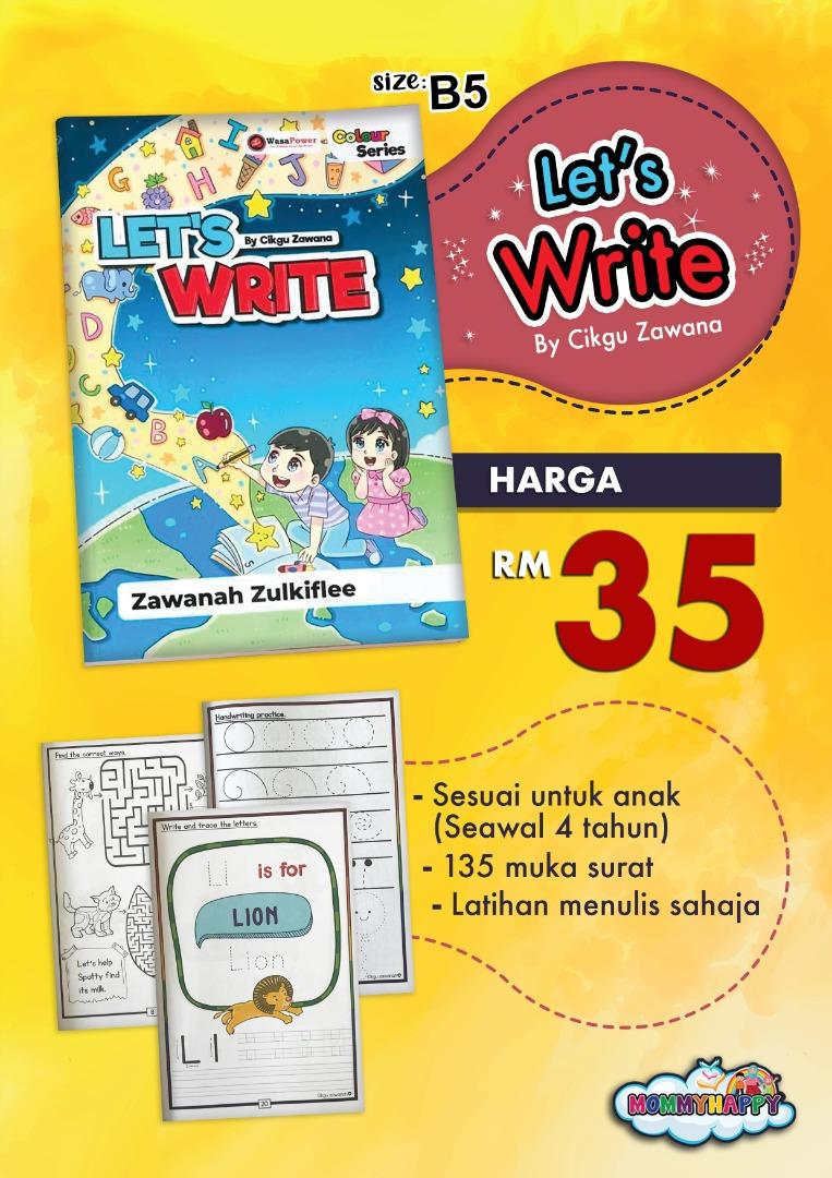 BK82-Buku LET'S WRITE oleh Cikgu Zawana