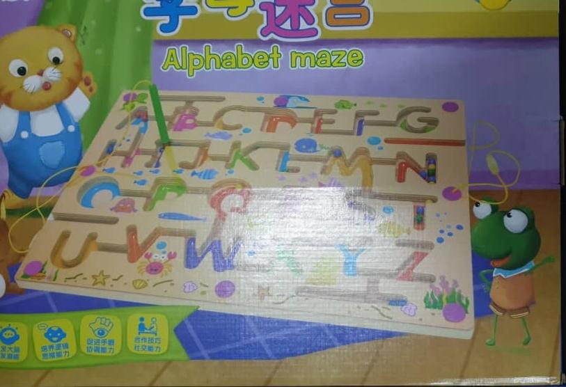 ET80-ALPHABET MAZE Wooden Toys