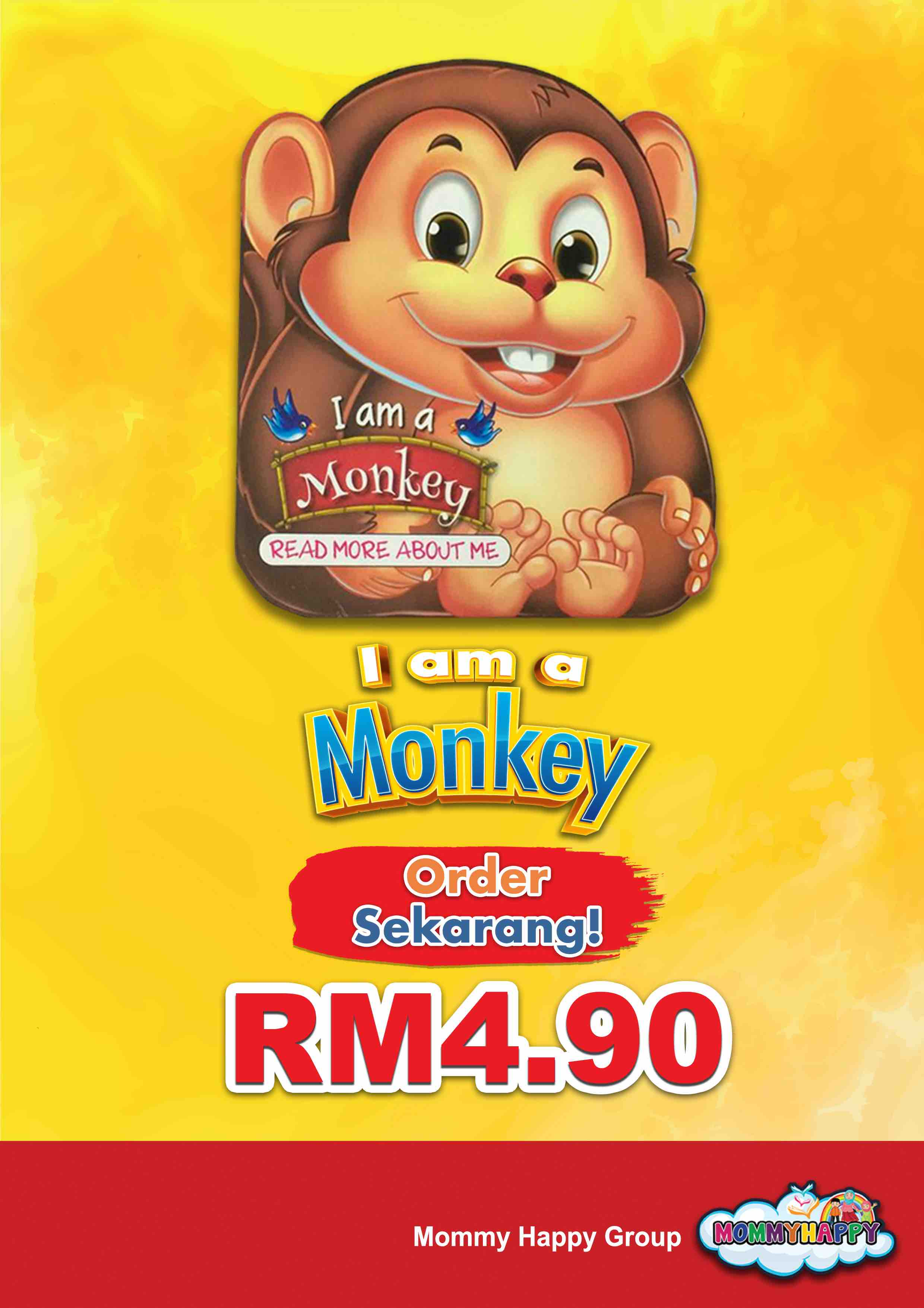 BE09- English Story Book – I am a monkey