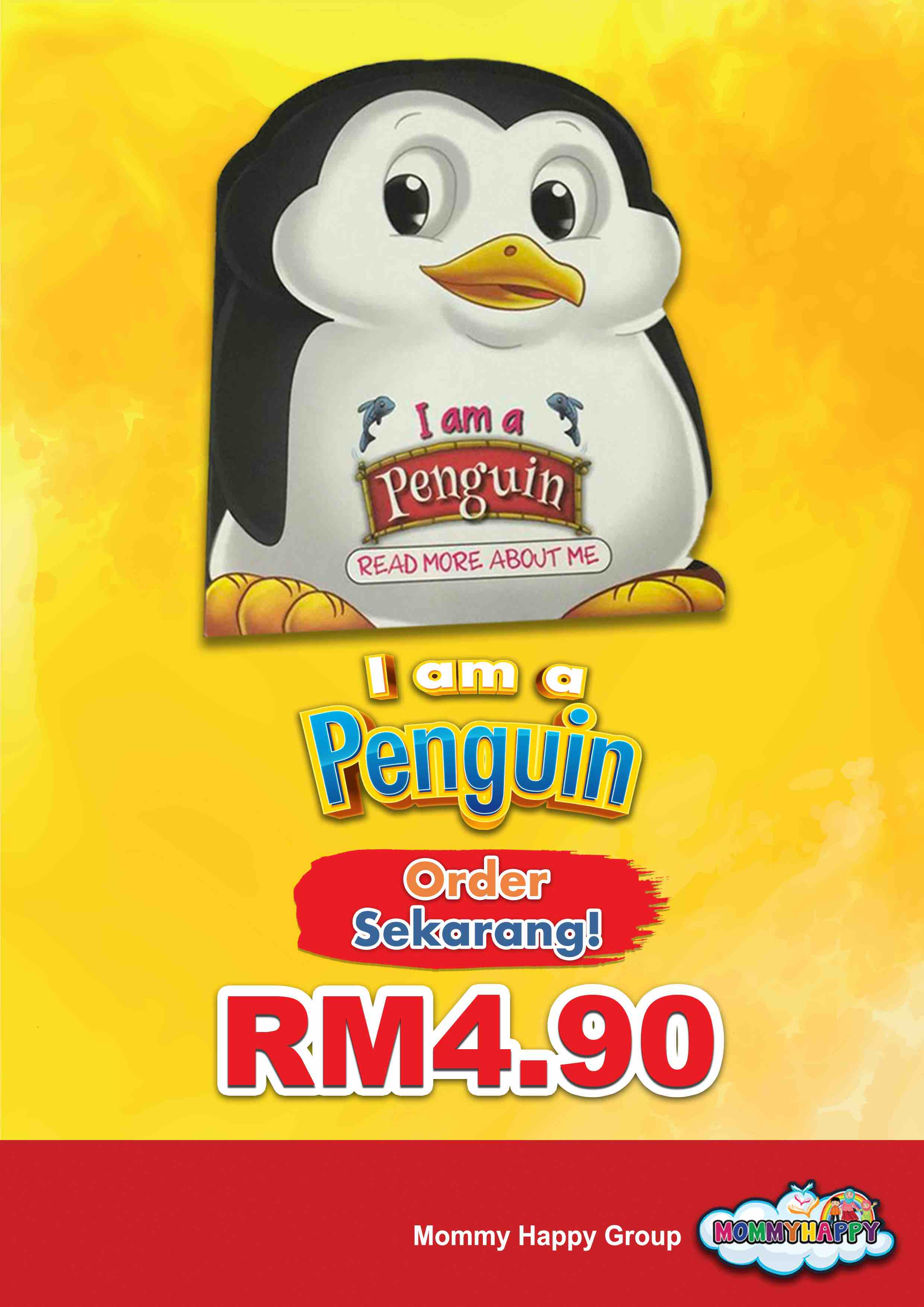 BE11- English Story Book – I am a penguin