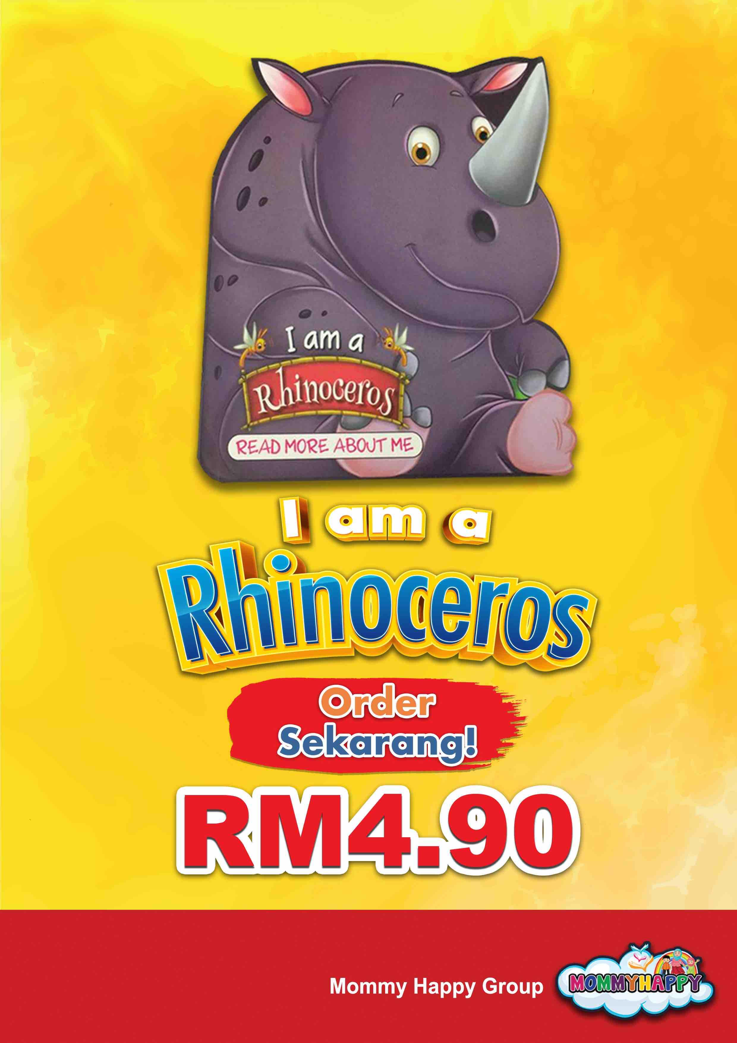 BE13- English Story Book – I am a rhinoceros