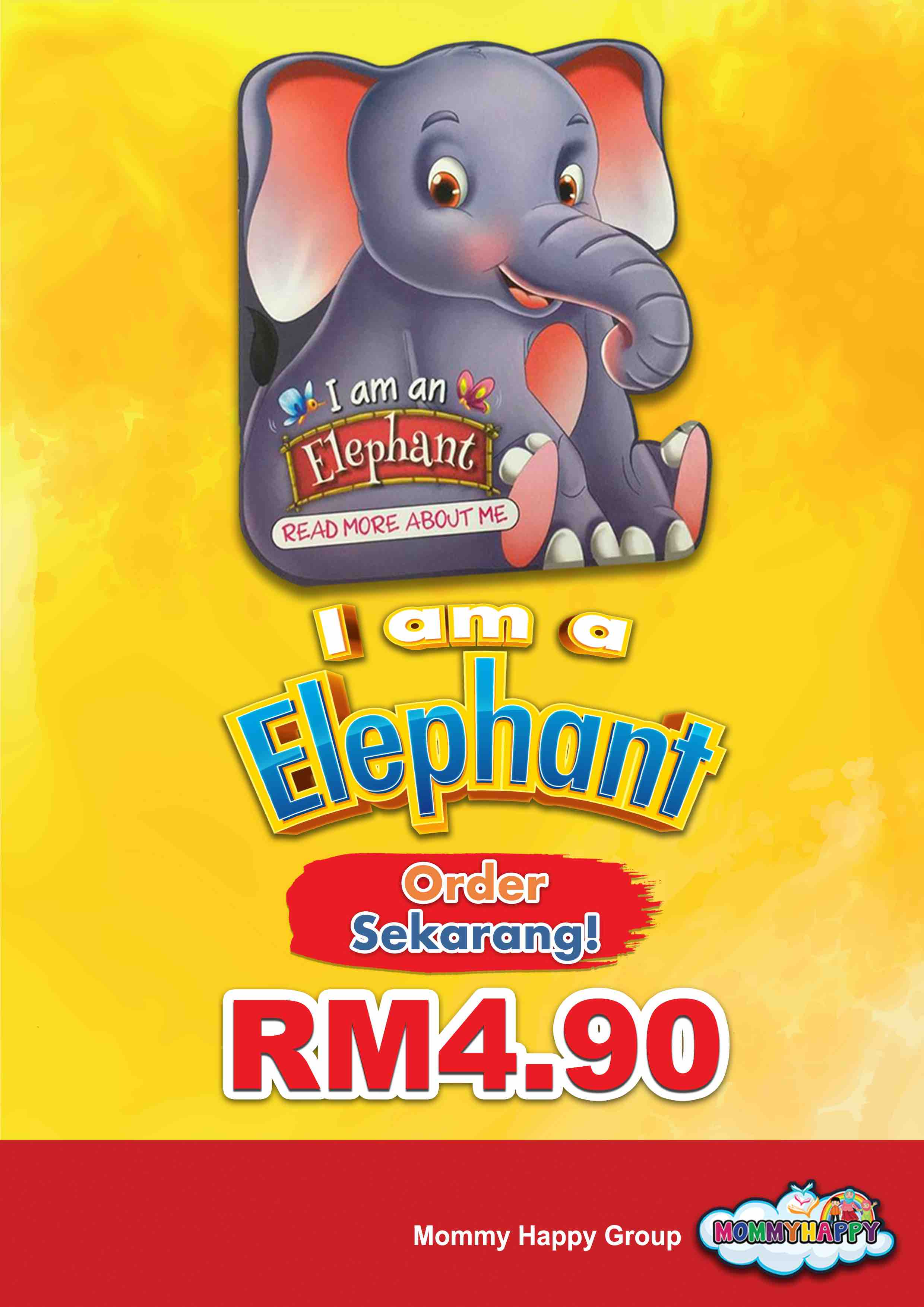 BE01- English Story Book – I am an elephant