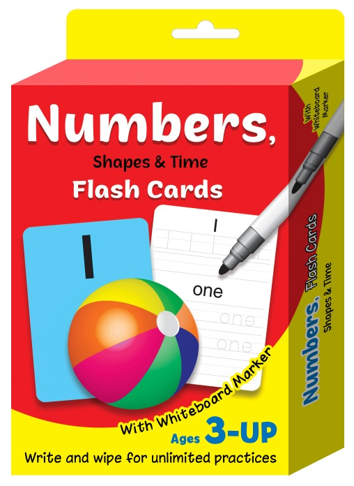 FC51-FLASHCARD NUMBERS WITH WHITEBOARD MARKER