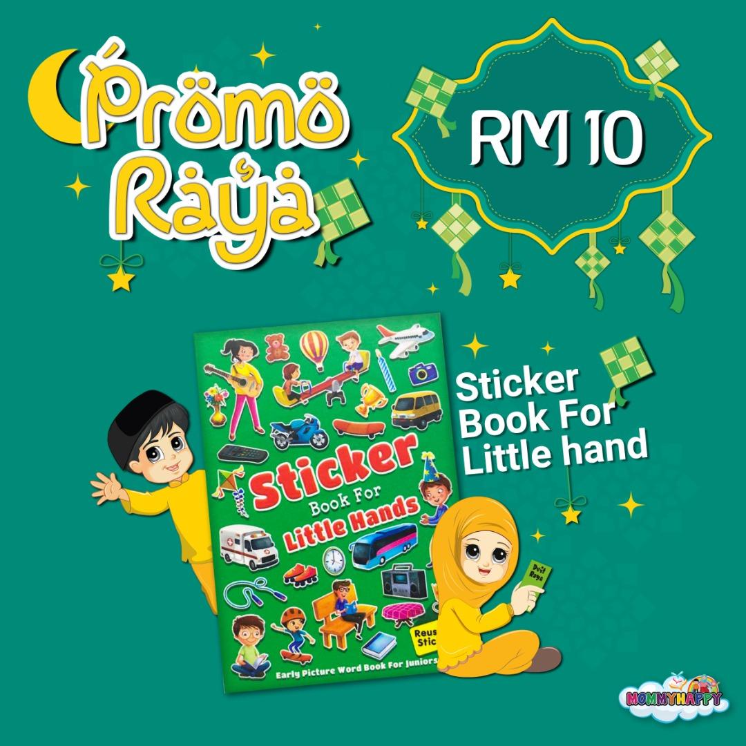 MAYRAYA10-STICKER BOOK FOR LITTLE HANDS GREEN