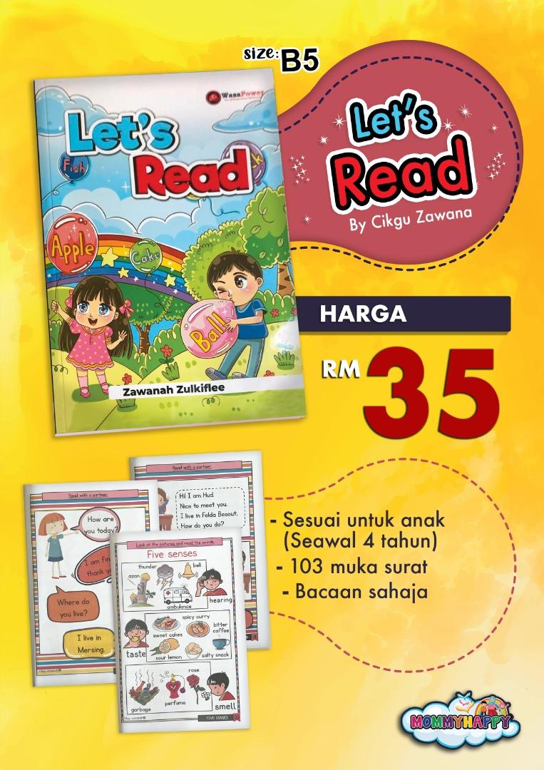 BK83-Buku LET'S READ oleh Cikgu Zawana