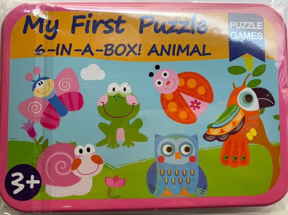 ET101 KOTAK BESI – MY FIRST PUZZLE ANIMAL -6 IN 1- BOX ANIMAL (OREN)