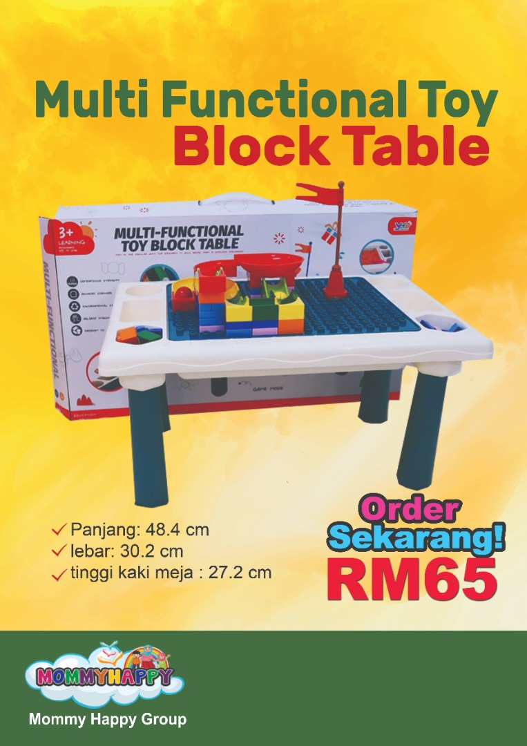 JUNET05-Multi Functional Toy Block Table