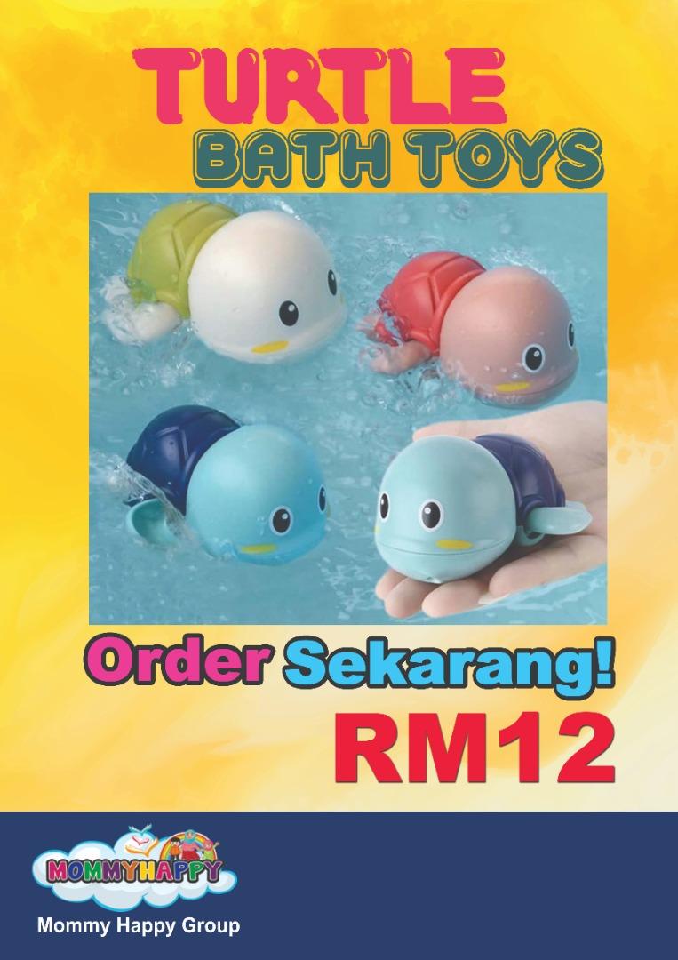 JUNET23-Turtle Bath Toys-Kura Kura Gedik