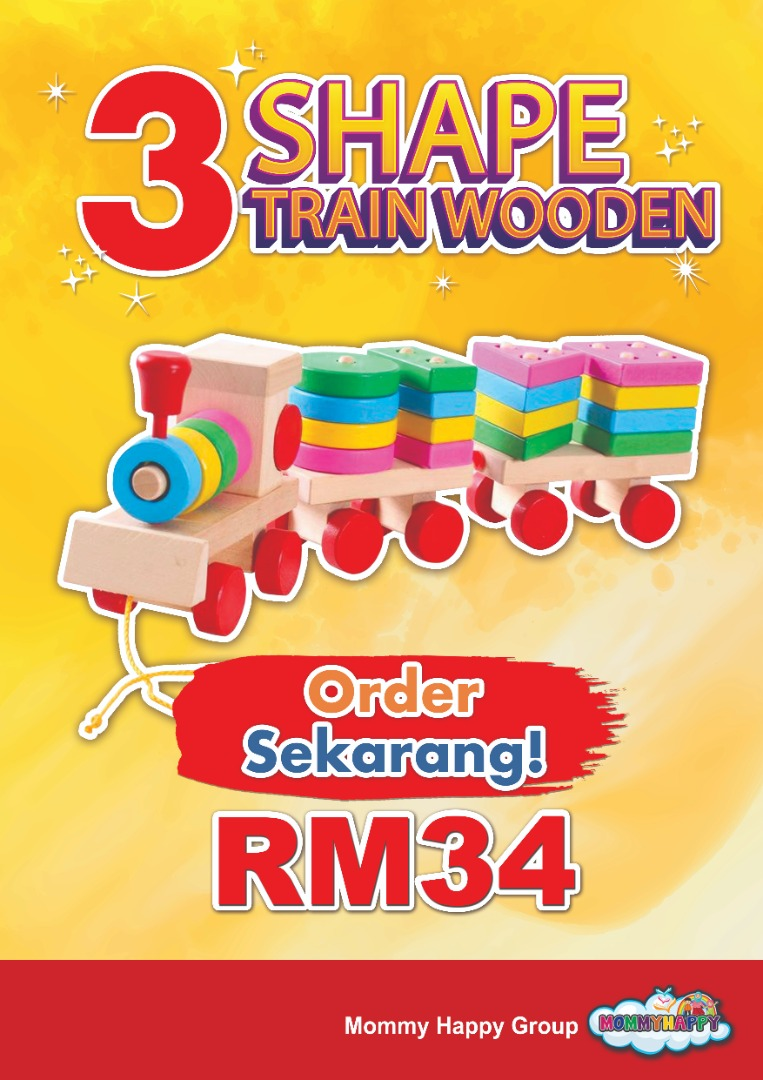 ET405- THREE SHAPE TRAIN WOODEN