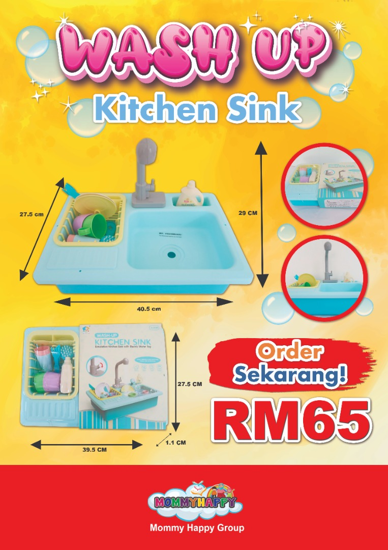ET605-WASH UP KITCHEN SINK ( BIRU)