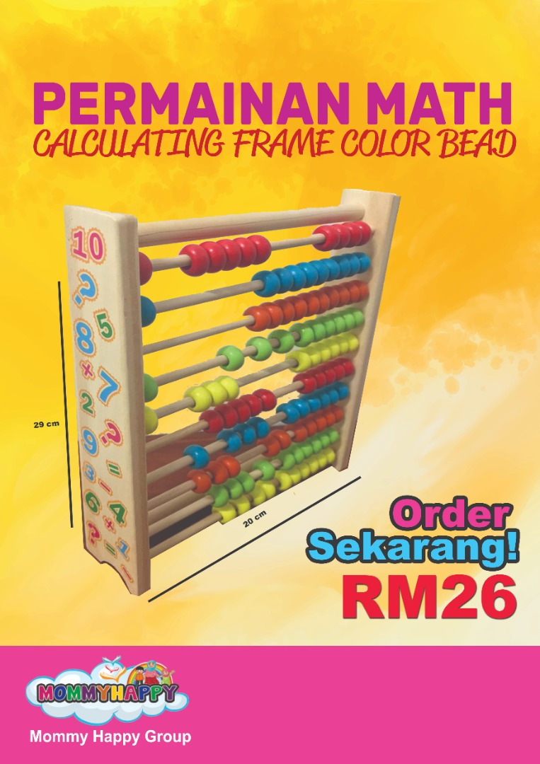 ET91- PERMAINAN MATH- CALCULATING FRAME COLOR BEAD
