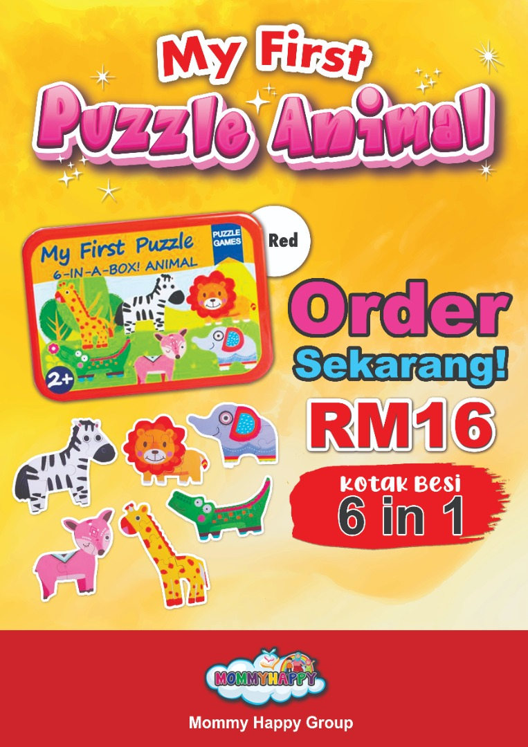 ET95-KOTAK BESI – MY FIRST PUZZLE ANIMAL 6 IN 1 (BOX MERAH)