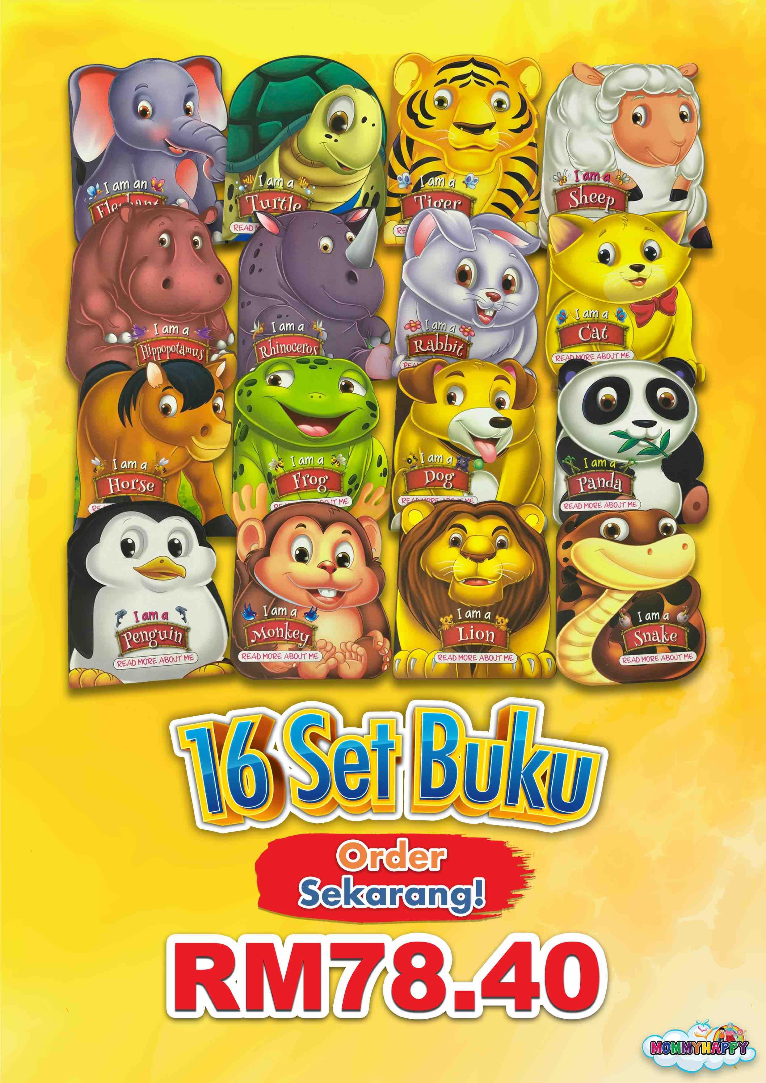 BE17 – 16 Set English Storybook Animal