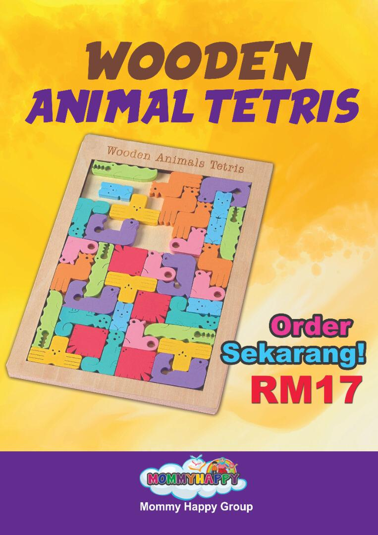 JULET-302 WOODEN ANIMAL TETRIS