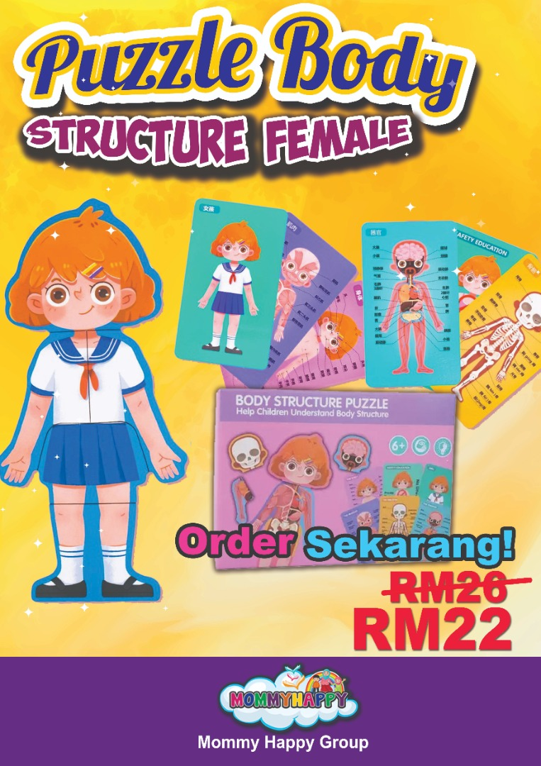 Pro-Haji-08- Body Structure Puzzle Female