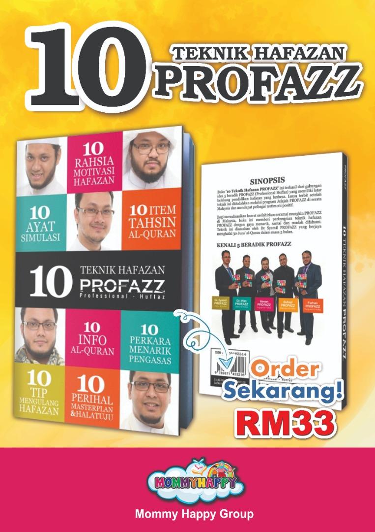 BK110-BUKU 10 TEKNIK HAFAZAN PROFAZZ