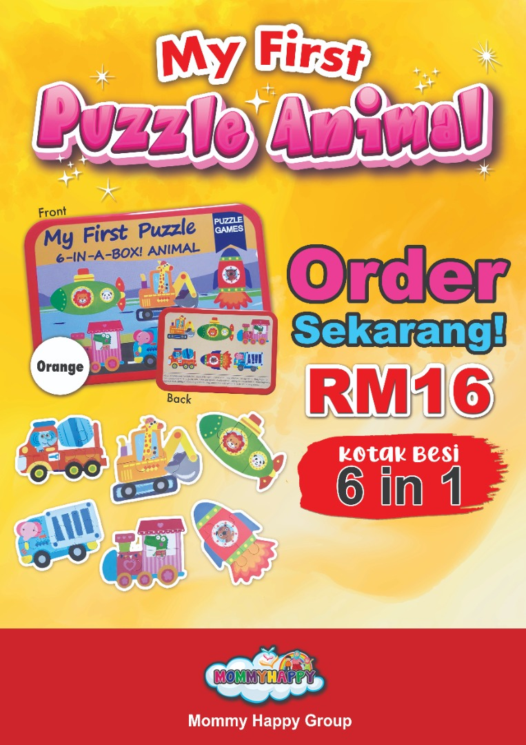 ET102 KOTAK BESI – MY FIRST PUZZLE ANIMAL (OREN)