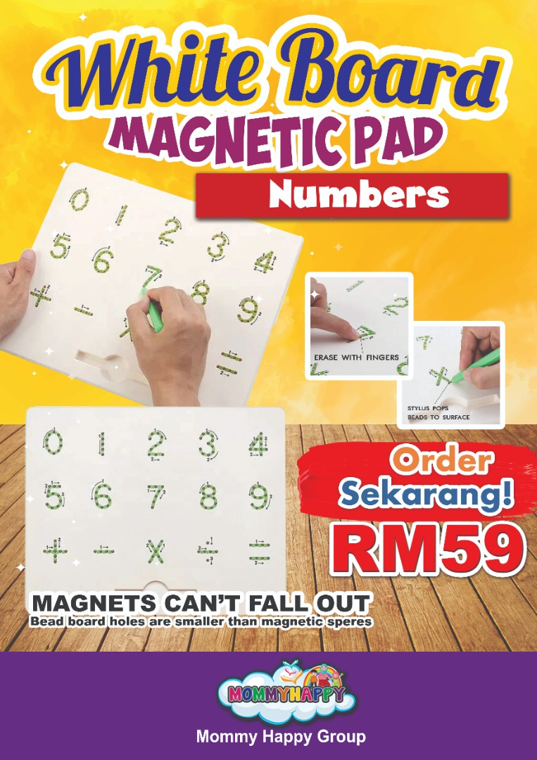 OKTET02- WHITE BOARD MAGNETIC NUMBERS