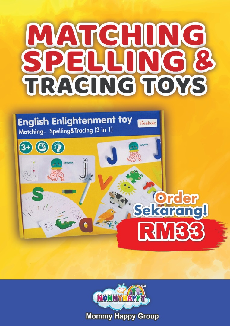 FEBET02-MATCHING SPELLING & TRACING TOYS